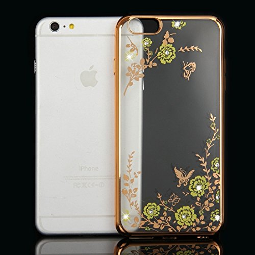 Wkae Case & Cover Pour iPhone 6 & 6s Fleurs Patterns Housse de protection TPU Electroplating souple ( SKU : IP6G1010F ) IP6G1010F