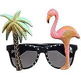 OFKPO Party Sonnenbrille Deko Brille für Strandparty Foto Stützen (Palme & Flamingo)