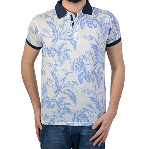 Deeluxe Polo S16203 Blue Tree bianco L