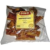 DIBO Rinderkopfhaut, 500g-Beutel, der kleine Naturkau-Snack oder Leckerli für Zwischendurch, Hundefutter, Qualitätskauartikel ohne Chemie von DIBO