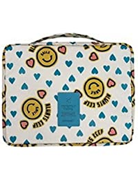 Flyusa Portable Waterproof Colorful Printed Travel Pouch Toiletry Bag Cosmetic Makeup Bag Wash Organizer(Yellow...