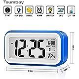 Digital Réveil Horloge Alarm Clock Calendrier Numérique Tactile avec Écran LCD Affichage de Date et Température pour les Jeunes les Enfants les Adolescents