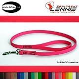 Führleine aus 9 mm BioThane, 1 m lang, Neon-Pink, Handschlaufe, genäht, 25 Farben, 0,3-3 Meter Länge