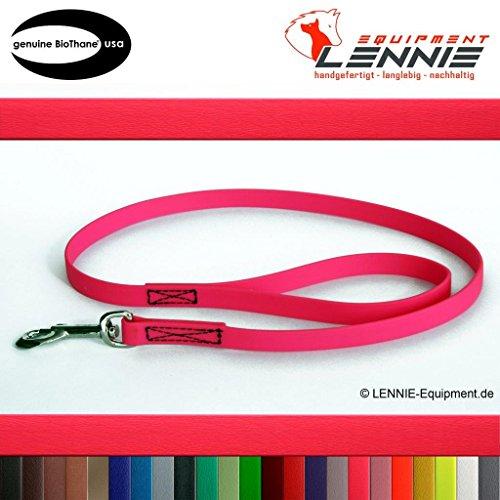 Führleine aus 19 mm breiter BioThane® / 0,3 - 3 Meter [1 m] / 25 Farben [Neon-Pink] / genäht