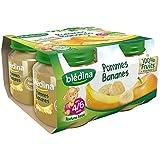 Blédina petits pots pomme banane 4x130g dès 4/6 mois - ( Prix Unitaire ) - Envoi Rapide Et Soignée