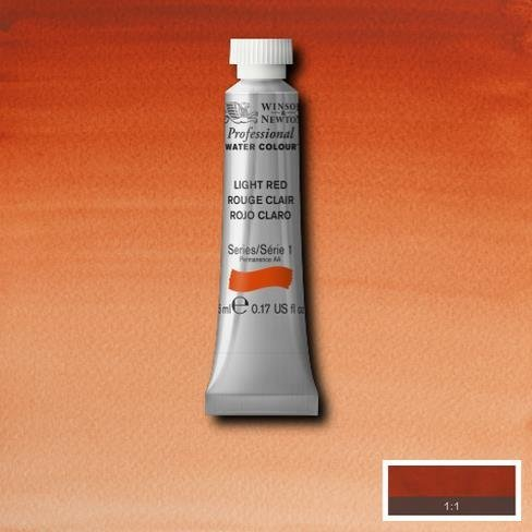 Winsor & Newton Artist Professional Watercolour Paint - 5ML Tube (Light Red) by Winsor & Newton - Red 5 Ml-tube
