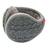 Winter Faux Fur Fluffy Ear Warmers Soft Plush Foldable Ear Cover for Men