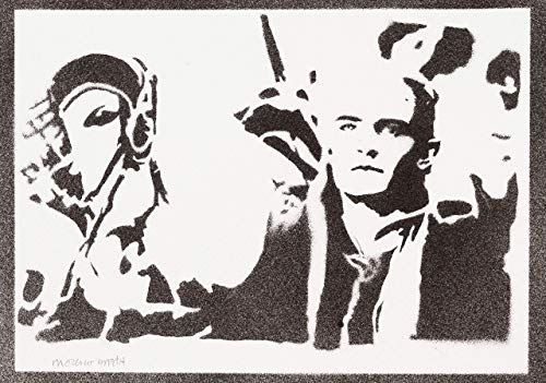 Legolas Herr Der Ringe (The Lord Of The Rings) Poster Plakat Handmade Graffiti Street Art - Artwork (Bilbo Hobbit Kostüm)