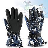 Zaeel Zaeel Ski-Handschuhe für Herren Winter Wasserdicht Snowboard Handschuhe Warm Winterhandschuhe Sporthandschuhe Outdoor Handschuhe