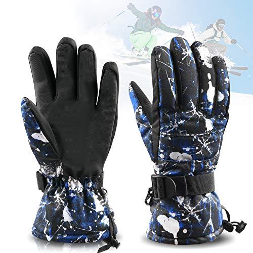 Herren Ski-handschuh (Zaeel Ski-Handschuhe für Herren Winter Wasserdicht Snowboard Handschuhe Warm Winterhandschuhe Sporthandschuhe Outdoor Handschuhe)