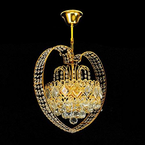 Lampadario- lampadari a cristallo a forma di del candeliere del ristorante del candeliere di cristallo a forma di cuore dei lampadari a cristallo classici d'ingresso del corridoio hg