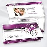 LILA HERZEN Einladungskarten Hochzeit selbst bedruckbar