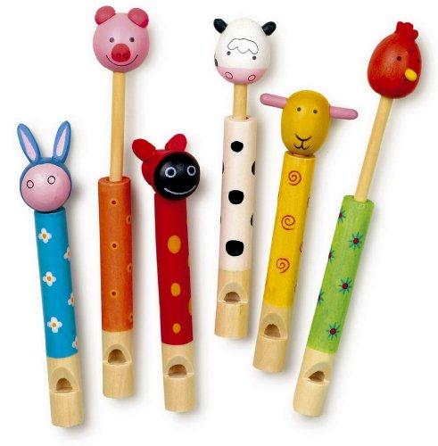 Imagen principal de small foot company 7744 - Juego de 6 flautas de animales [Importado de Alemania]