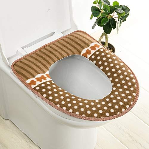 Trap-o-ring (BAOZIV587 2er-Pack WC-Sitzkissen Haushalt Toilettendeckel Aufkleber Wc Trap Waterproof Universal-Wc-Sitzmatte Summer, Coffee Dot Glue)