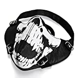 JewelryWe Masque Protection Demi Cagoule Ghost Tete de mort Crâne Skull Airsoft...