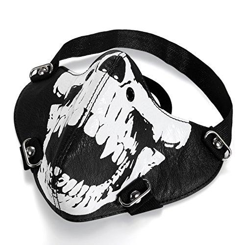 ker Motorrad Maske Sturmmaske Skimaske Gesicht Maske aus Leder - Totenkopf Skull Face (Schaum Halloween-masken)