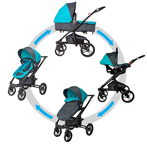 Passeggino modulare 3 in 1 DHS 607 Arrow Switch blu