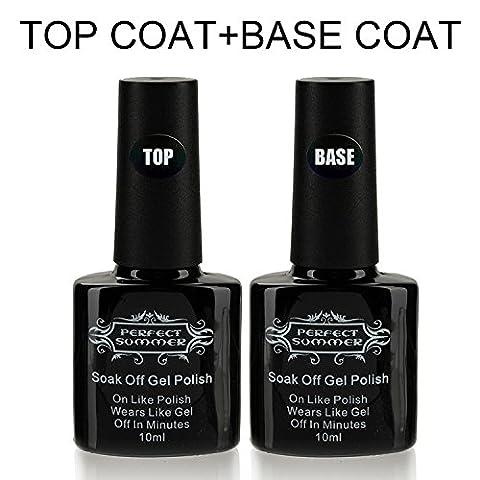 Base Coat Top Coat Vernis Gel - Perfect Summer Soak