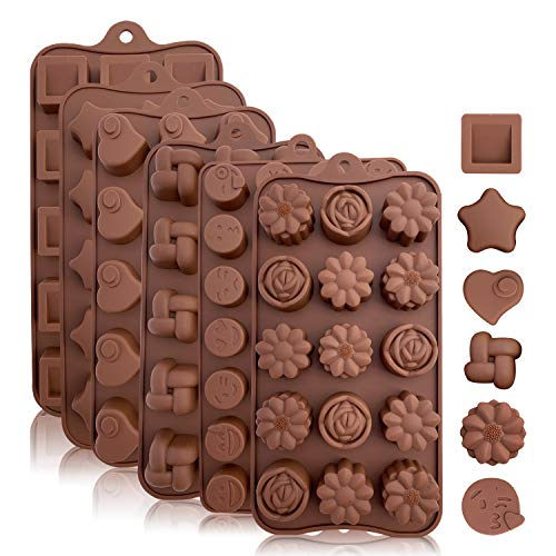 KITCHENATICS Moldes Silicona Caramelo Chocolate: moldes