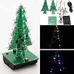 Bluelover Christmas Tree LED Flash Kit 3D DIY Electronic Learning Kit -Three Colors