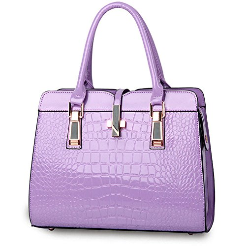 Mefly Nuova moda Borsetta tracolla messenger bag retrò Ms. blu navy Purple taro