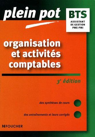 Organisation et activités comptables BTS Assistant de gestion PME-PMI IUT