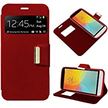 Funda Flip Cover LG X150 (L Bello II) Liso Rojo