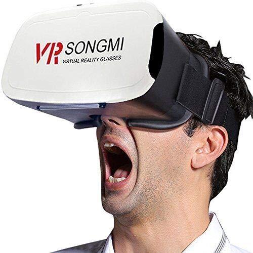 AOOK SONGMI Serie 3D VR Virtual Reality Headset, VR-Brille für immersive 360-Grad-Videos / Filme / Spiele in 4 bis 5,7 Zoll iPhone 5 6s plus Samsung S6 Edge Note 5 LG G3 G4 Nexus 5 6P (SCHWARZ)