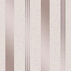 Fine Décor FD42205 - Papel pintado con rayas de cuarzo, color oro rosa