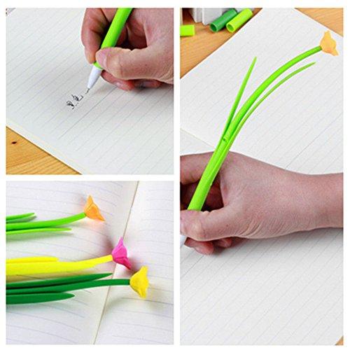 ikon Cute 3D Blume Gel Pen Student Schulbedarf Geschenk zufällige Farbe (Snoopy Cupcake Ringe)