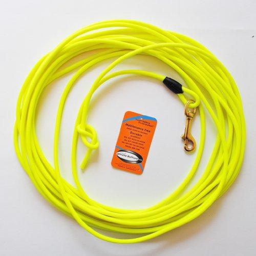 10 Meter Schleppleine aus neongelber, runder Biothane (coated rope)