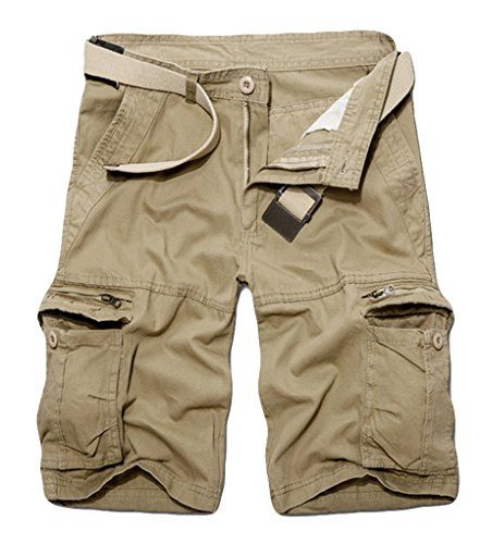 ZKOO Cargo Shorts Kurze Hose Herren Bermuda Sommerhose Sporthose Freizeit Hose Multi-Tasche
