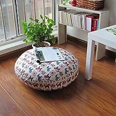 Huayer Colchoneta de colchón de Confort Colchonetas Redondas de Tatami Futon, cojín japonés para Almohadas