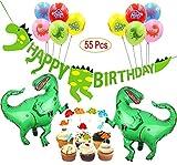 Mattelsen Decoración de Cumpleaños Dinosaurios 3D Happy Birthday...