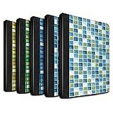 STUFF4 PU-Leder Hülle/Case/Brieftasche für Apple iPad 2/3/4 tablet / Pack (15 Modelle) Muster / Bad Fliesen Kollektion