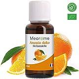 Olio Essenziale di Arancio Dolce Biologico • 100% Puro Naturale Vegano • Olio Essenziale per Aromaterapia per Massaggi per Diffusori • Certificato OEBBD OECT e Agricoltura Biologica • 30 Ml Mearome