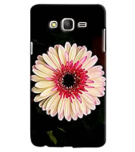 Blue Throat White Flower Pattern Hard Plastic Printed Back Cover/Case For Samsung Galaxy On 5