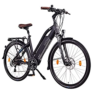 NCM Milano+ 28 Zoll Trekking / Urban E-Bike, 48V 250W Das-Kit Heckmotor, 48V 14Ah 672Wh designer Rahmen Akku mit Panasonic Li-Ion Zellen, hydraulische Tektro Scheibenbremsen, 8 Gang Shimano Altus / Acera Gangschaltung, matt schwarz