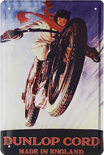 Dunlop pneumatici reklame replica motociclo bike targa in metallo 20x 30retro targa in 1673