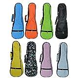 Zealux® – Housse de transport colorée pour Ukulélé 5 mm d'épaisseur avec bandoulière réglable 21 in noir