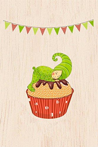 Cozywood® carta di legno - cartolina postale | motivi vari ogni carta è individuale e unico | cartolina d'auguri | congratulazioni | matrimonio | nascita del ragazzo o ragazza | compleanno | certificato fsc | ecologicamente sostenibile, # cozywood:green cupcake