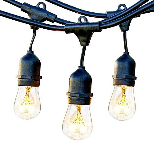 Luces de Cuerda al Aire Libre,TryLight E27 IP65 Luces de Cadena LED Conectables a Prueba de Agua Bulbos de época Perfecto para Interiores, al Aire Libre,Navidad, Jardín, Fiesta, Festival