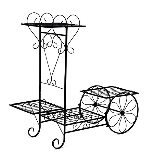 LJ Estilo europeo flor hierro rack multilayer balcón