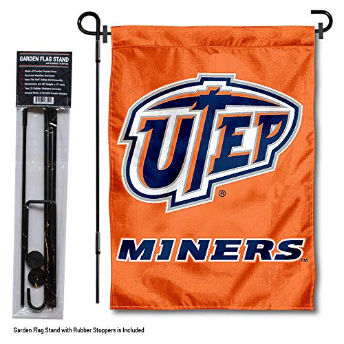 College Flags and Banners Co. Texas EL Paso Miners Gartenflagge mit Ständer