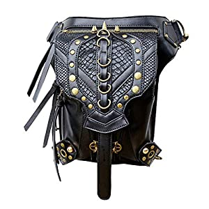 Steampunk Bag Steam Punk Retro Rock Gothic Goth Shoulder Waist Bags Packs Victorian Style for Women Men + Leg Thigh Holster Bag   2