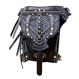 Steampunk Bag Steam Punk Retro Rock Gothic Goth Shoulder Waist Bags Packs Victorian Style for Women Men + Leg Thigh Holster Bag   3