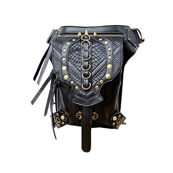 Steampunk Bag Steam Punk Retro Rock Gothic Goth Shoulder Waist Bags Packs Victorian Style for Women Men + Leg Thigh Holster Bag DM201605 100% Brand New and High Quality. Adjustable belt design for better fitting body Material : Leather ( PU Leather) Durable material and workmanship to withstand daily wear & tear. 1