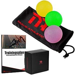 MAVE ATHLETIC® Handtrainer Griffbälle im 3er Set – Effektive Fingertrainer Antistressbälle für mehr Griffkraft