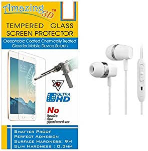 Generic Tempered Glass Screen Protector For Micromax CANVAS Juice 2 Q5001 And Free In-Ear Earphones
