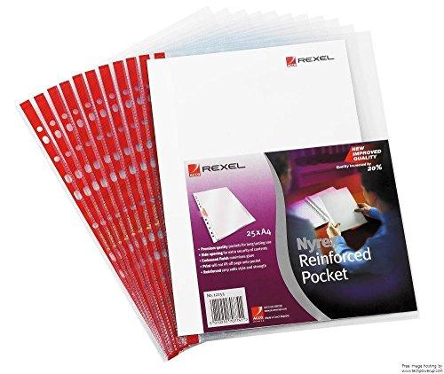 Preisvergleich Produktbild Rexel Nyrex verstärkte seitliche Öffnung Taschen A4 90 Mikron geprägt (25 Stück) Originalverpackung